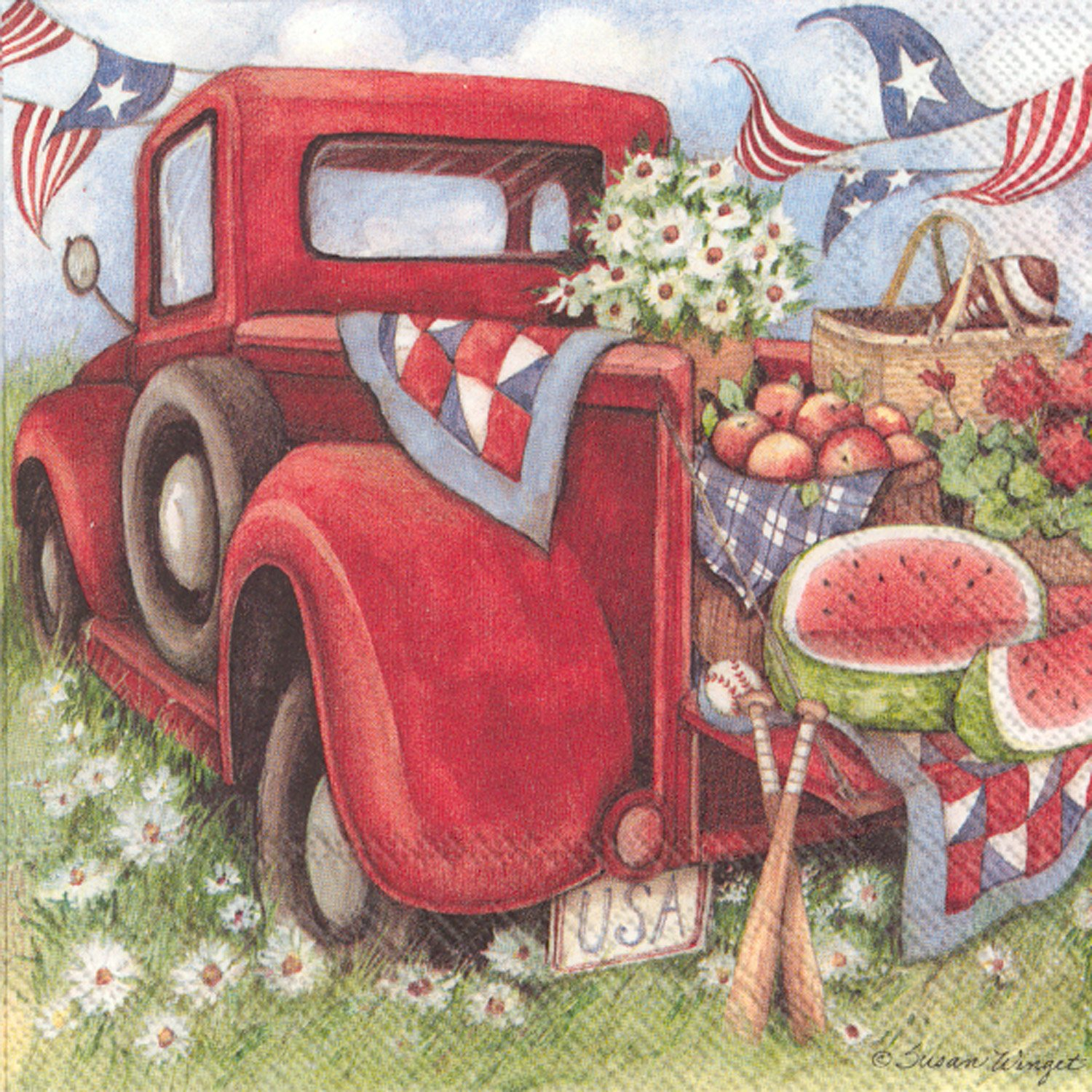 Celebrate the Home Spring/Summer 3-Ply Paper Luncheon Napkins, Truck, 20 Count