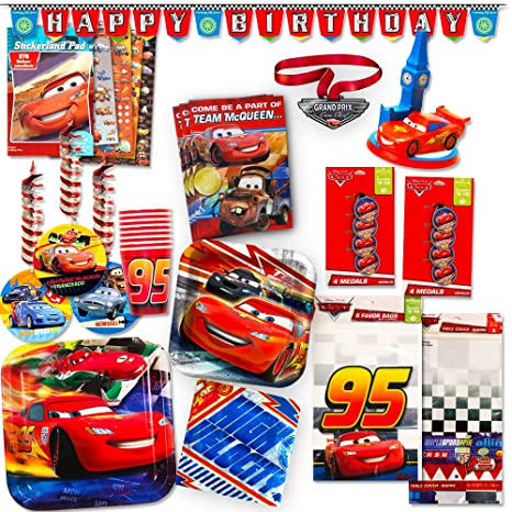 Amazon Disney Cars Party Supplies Ultimate Set 134 Pcs