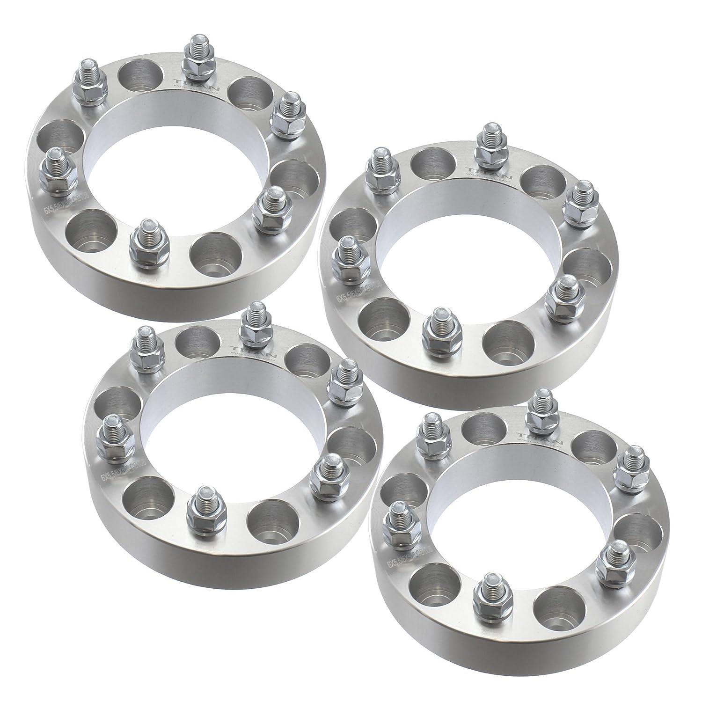 Set of 4 | 1.50' 6x139.7 Wheel Spacers | 12x1.25 Studs | fits Infiniti & Nissan Trucks SUVs 6x5.5 Titan Wheel Accessories