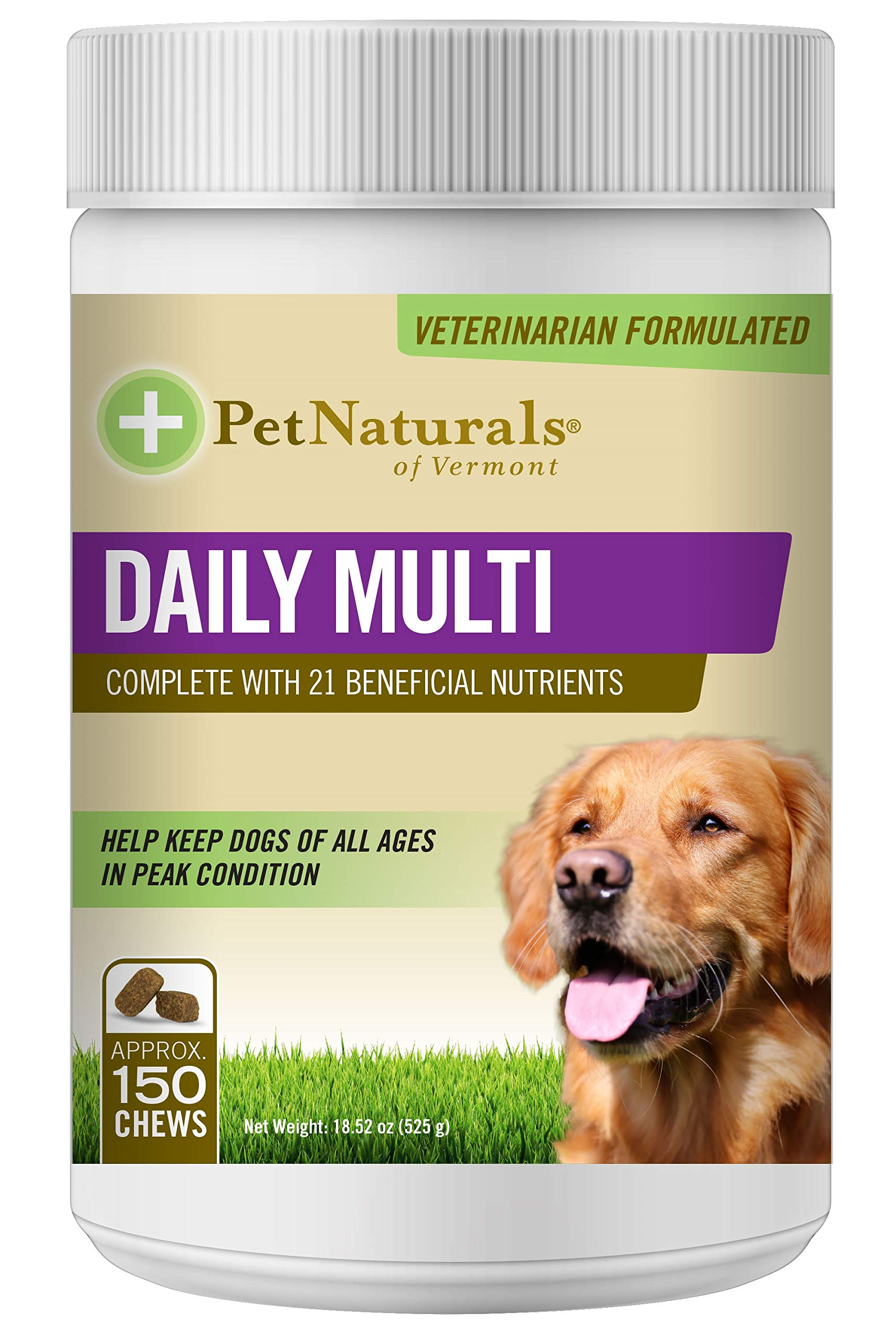Pet Naturals of Vermont - Daily Multi for Dogs, Daily Multivitamin Formula, 150 Bite Sized Chews by Pet Naturals