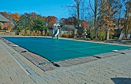 safety pool covers. 18 X 36 Rectangle Safety Pool Cover With Center End Step (4x8) Covers