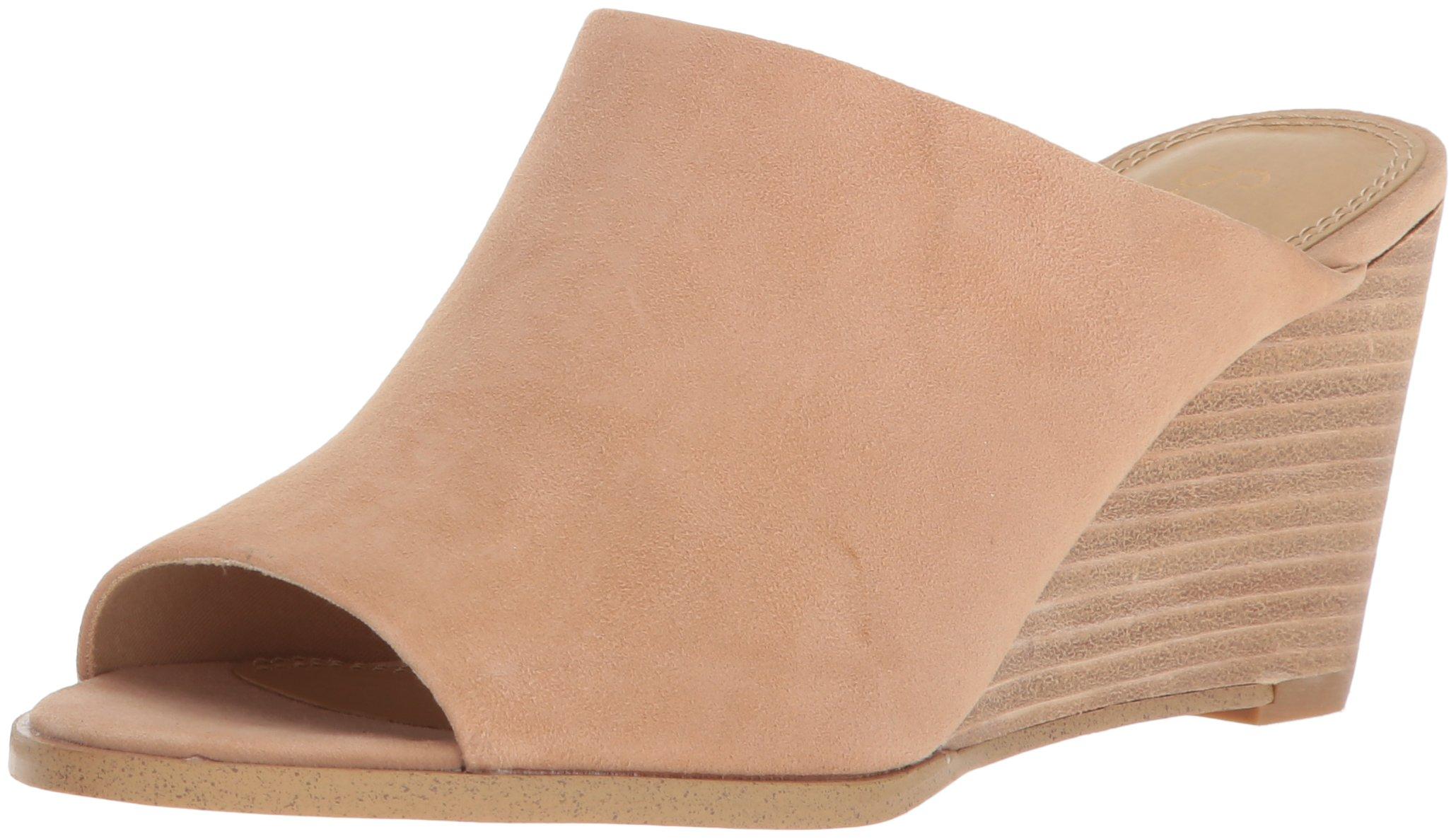 Splendid Women's Fenwick Wedge Sandal, Nude, 6.5 Medium US