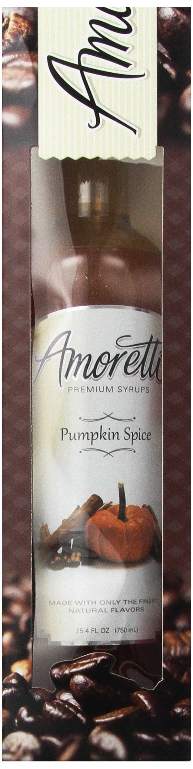Amoretti Premium Pumpkin Spice Syrup 750ml 3 Pack