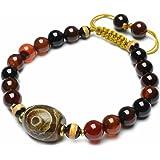 Élégantes tibétain 3 Yeux tibétain Dzi protecteur Amulette Bracelet - Fortune Feng Shui Bijoux