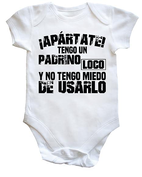 TENGO UN PADRINO LOCO Y NO TENGO MIEDO DE USARLO body bodys pijama niños niñas unisex: Amazon.es: Ropa y accesorios