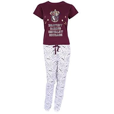 0a0c0bf65f408 Pyjama Bordeau-crème Gryffindor Harry Potter: Amazon.fr: Vêtements ...