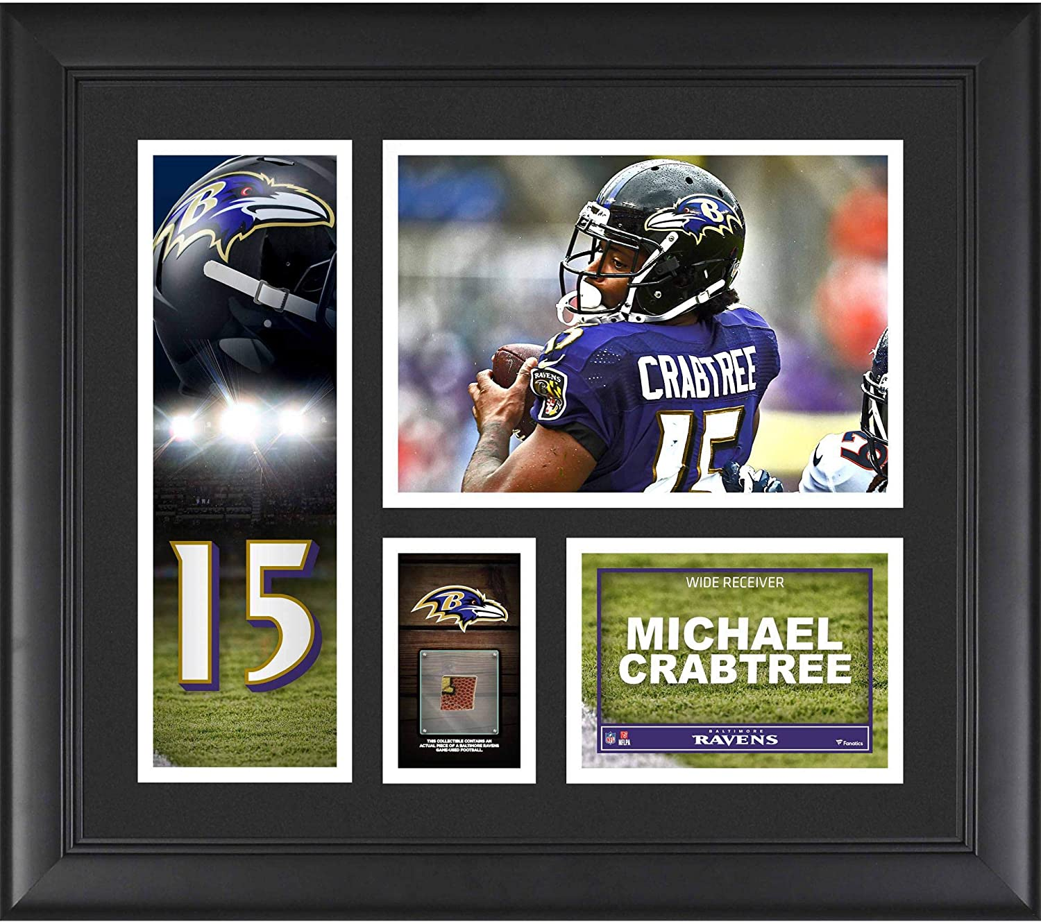 Amazon.com  Michael Crabtree Baltimore Ravens Framed 15