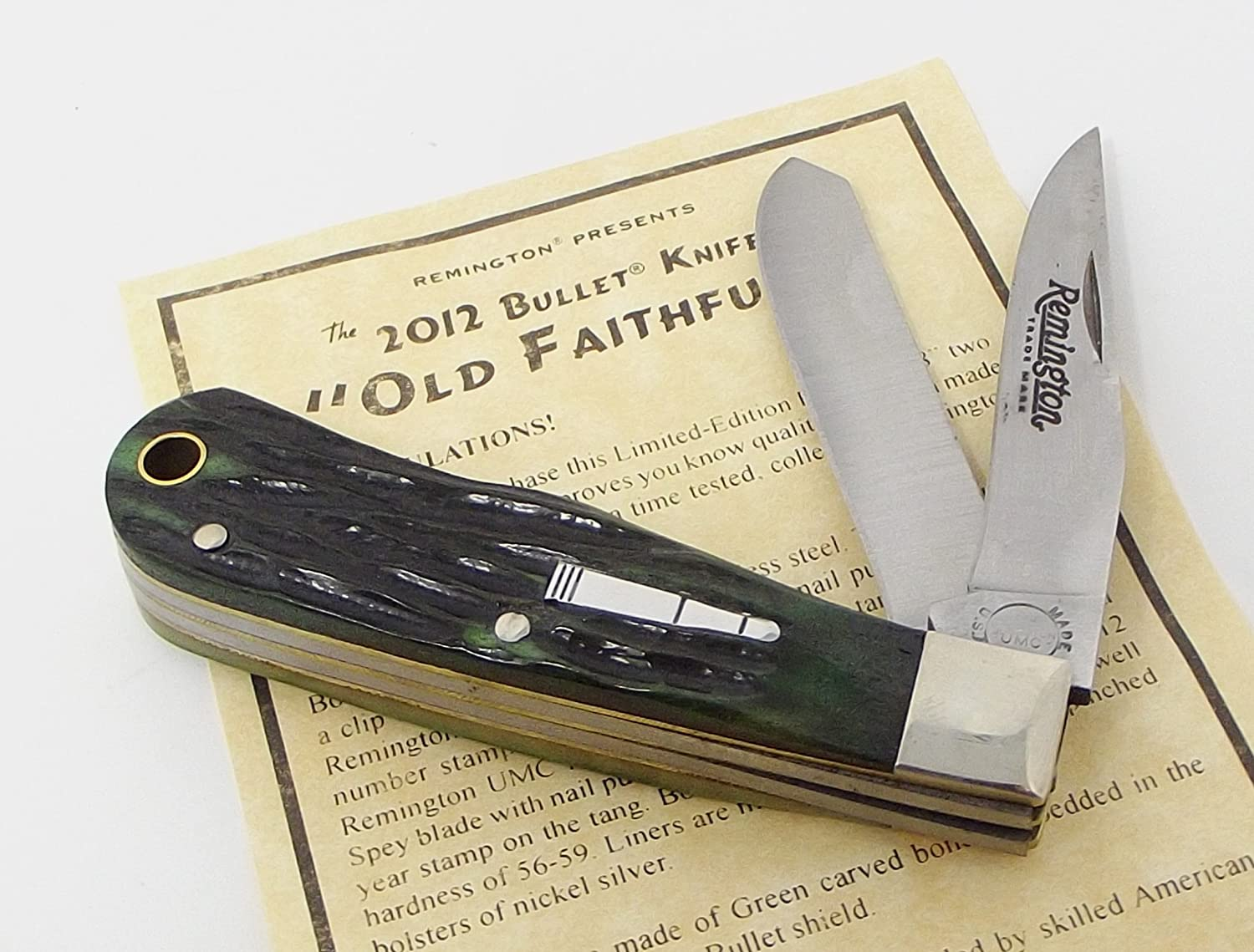 USA Made Remington Old Faithful Two Blade Trapper Pocket