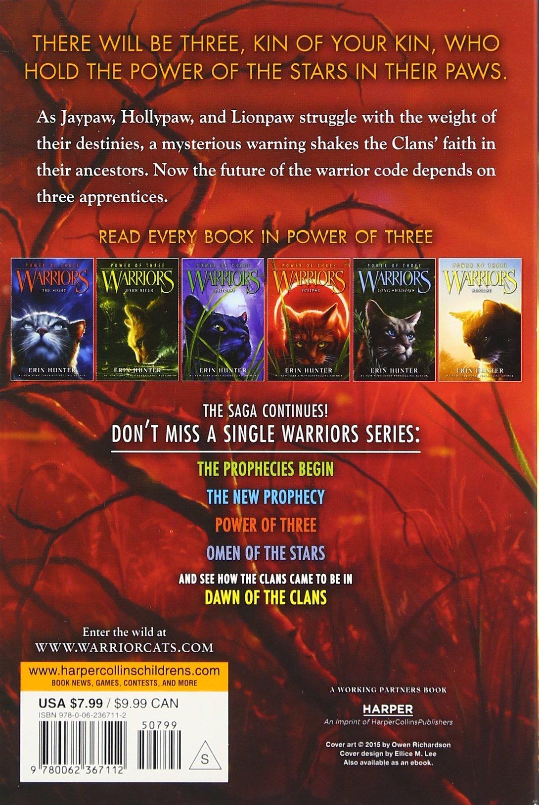 Warriors: Power Of Three #4: Eclipse: Erin Hunter: 9780062367112:  Amazon: Books