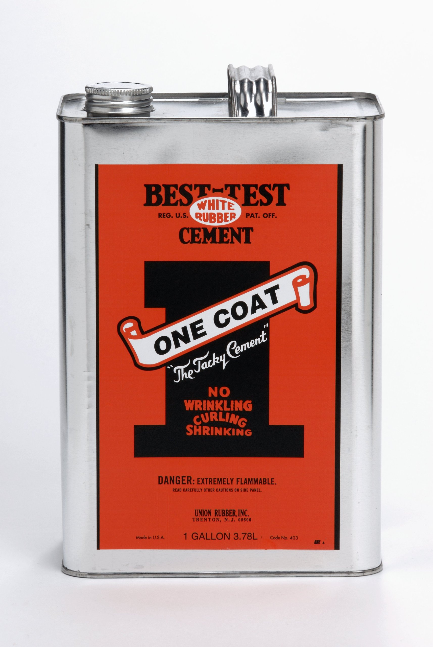 Best-Test One-Coat Repositionable Rubber Cement, 1-Gallon by Best-Test