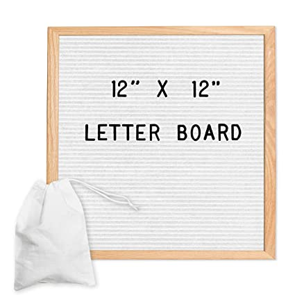 Amazon White Felt Letter Board With 650 Letters Numbers