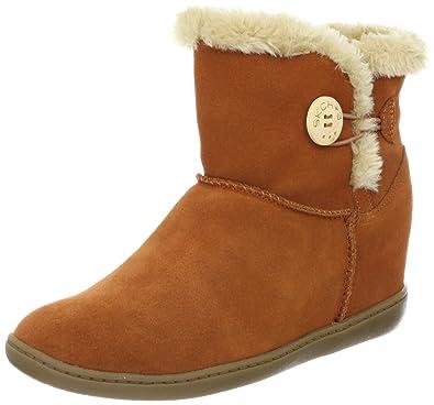 the latest 95371 f4f18 Skechers Women s Plus 3-Cozy Up Boot,Rust,8.5 ...