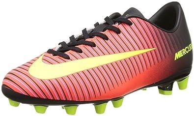 newest 091d5 3c1d1 Nike Jr Mercurial Vapor XI AG, Botas de fútbol Unisex para Niños, Naranja  (Total Crimson Vlt-Blk-Pnk Blst), 38 1 2 EU  Amazon.es  Zapatos y  complementos