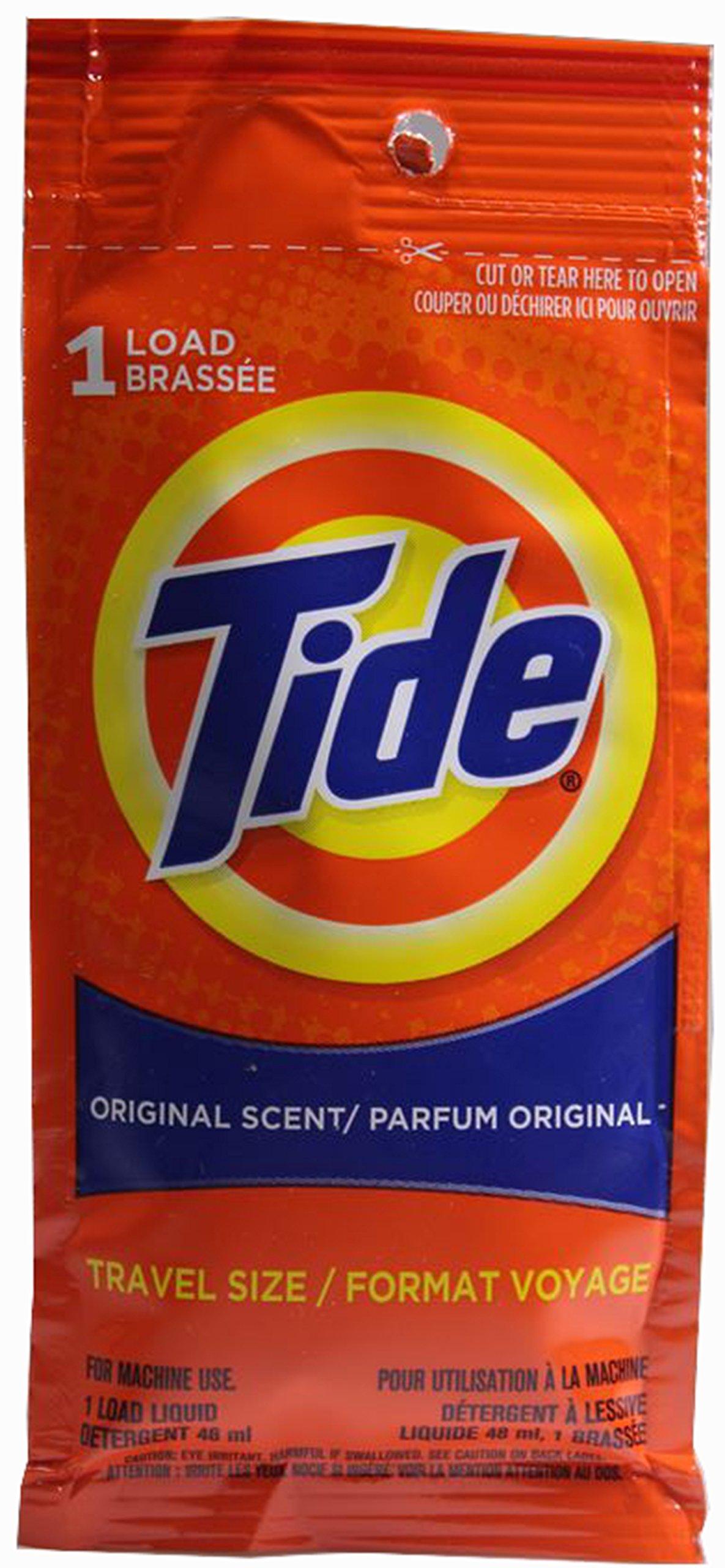Tide Travel Size, Original Scent Liquid Laundry Detergent, 1 Load (Pack of 10)