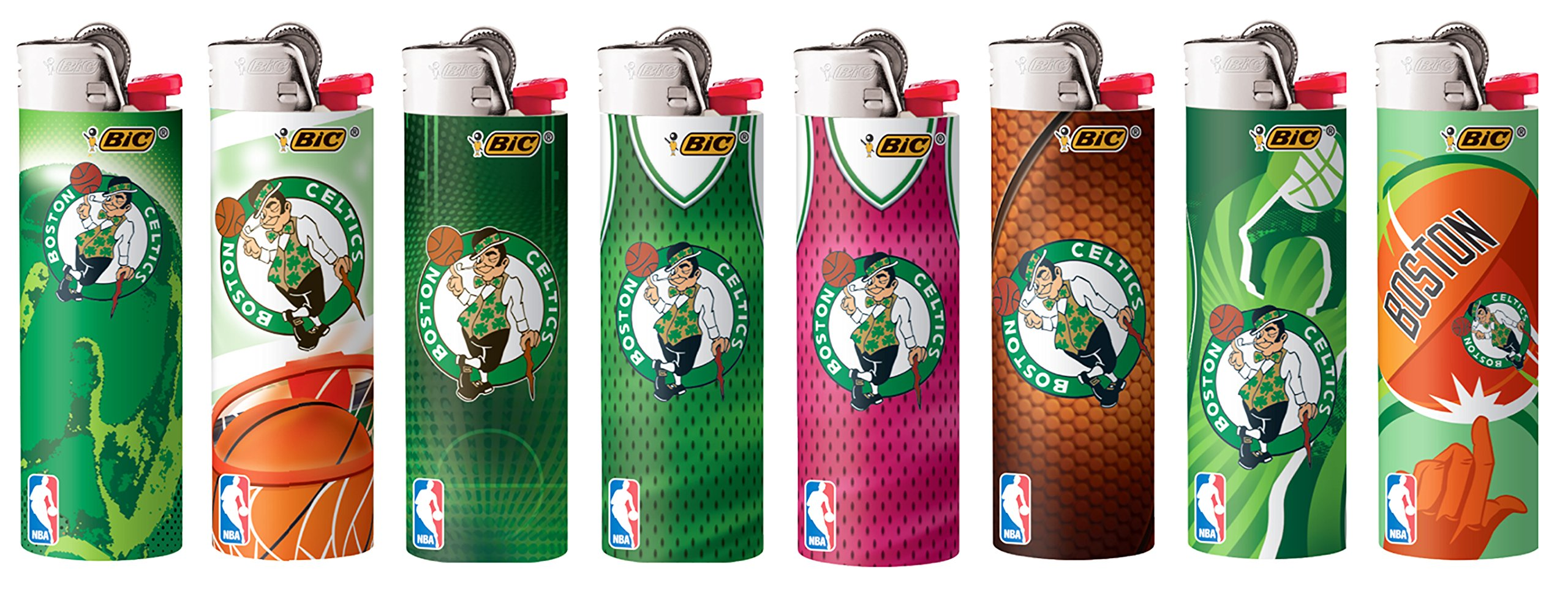 Bic Boston Celtics Lighters Set of 8 NBA Officially Licensed Bic Cigarette Lighters