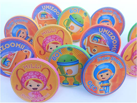 Outstanding Amazon Com Unbranded 12 Team Umizoomi Rings Cupcake Toppers Personalised Birthday Cards Epsylily Jamesorg