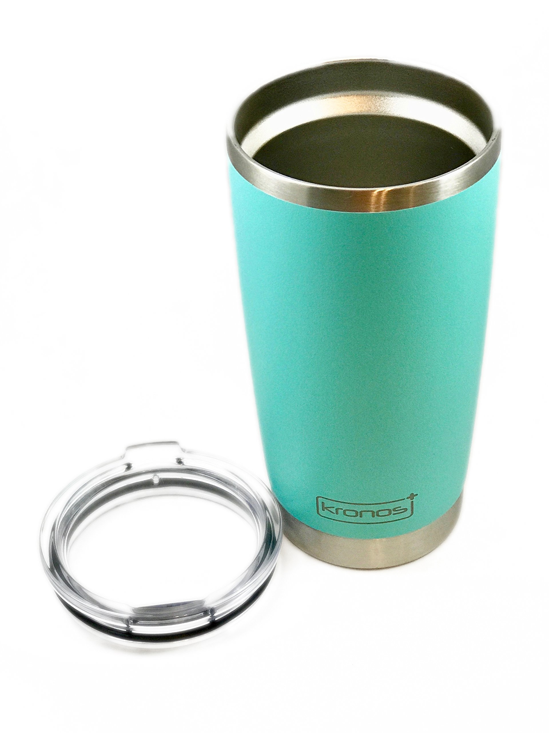 ( SEA FOAM ) Dishwasher Safe 20 oz Vacuum Insulated Thermos with High Quality Matte Finish - Coffee Mug Tumbler by Kronos + (Image #4)