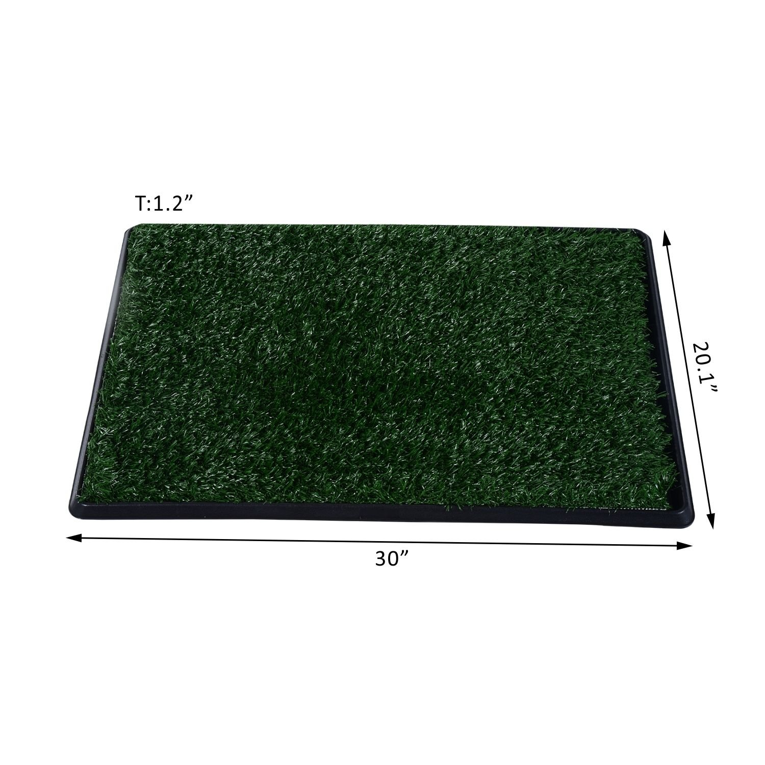 Grass Pad Restroom Potty Training w/Tray Indoor Outdoor New 30'' Large Pet Dog Toilet