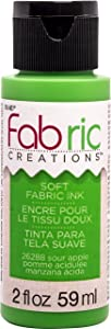 Fabric Creations Soft Fabric Ink Paint, 2 oz, Sour Apple 2 Fl Oz