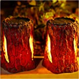 TONULAX Solar Lights Outdoor Decorative, Solar Stump Light with Dancing Flame,Solar Lantern Lights for Garden, Patio…