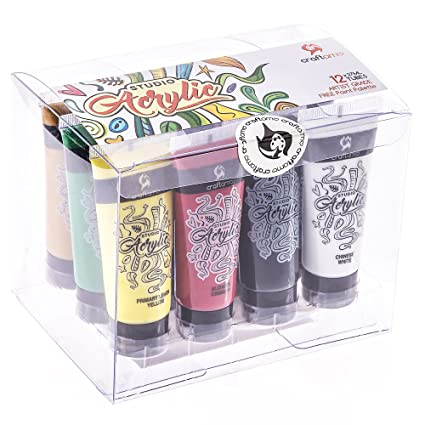 amazon com craftamo acrylic paints set 12 x 27ml tubes acrylic