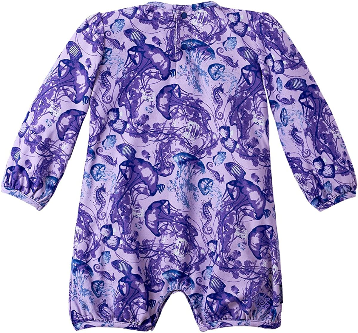 Baby Girls UV Sunzie Purple Jellyfish UV SKINZ UPF 50