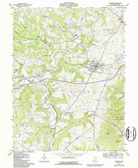 Amazon Com Yellowmaps Peebles Oh Topo Map 1 24000 Scale 7 5 X 7 5