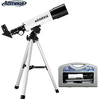 Aomekie Telescopio Astronomico para Niños 50/360 con Trípode Maleta y Ocular Erecto 1.5X (F36050MM)