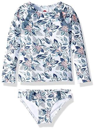 48d60b47057b6 Roxy Toddler Girls' Magic Seeker Long Sleeve Rashguard Set, Bright White  Flower Spirit Southwest