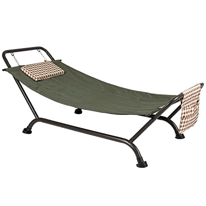 Best Choice Products Deluxe Pillow Hammock With Stand Supports 500lb Outdoor  Yard Garden Patio Furniture - Amazon.com : Best Choice Products Deluxe Pillow Hammock With Stand