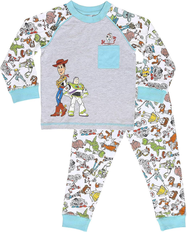 Disney Pijamas para Niños De Toy Story 4! | Ropa Suave Y Cómoda para Dormir De Niño Y Niña | Pijamas De Manga Larga Pixar | ¡ con Woody, Buzz Lightyear y Forky!