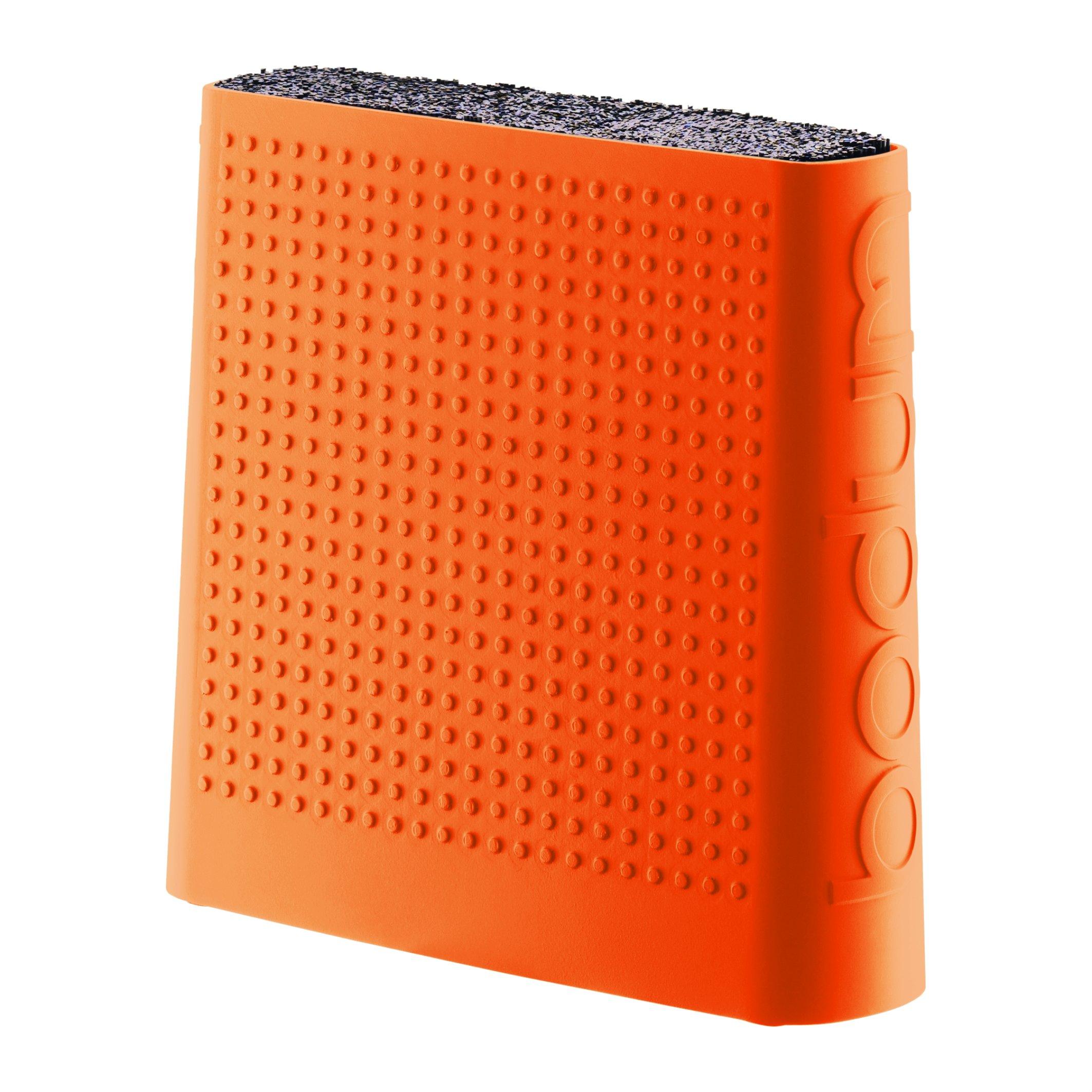 Bodum Bistro - Knife Holder Block - Non-Slip Feet - Plastic - Orange