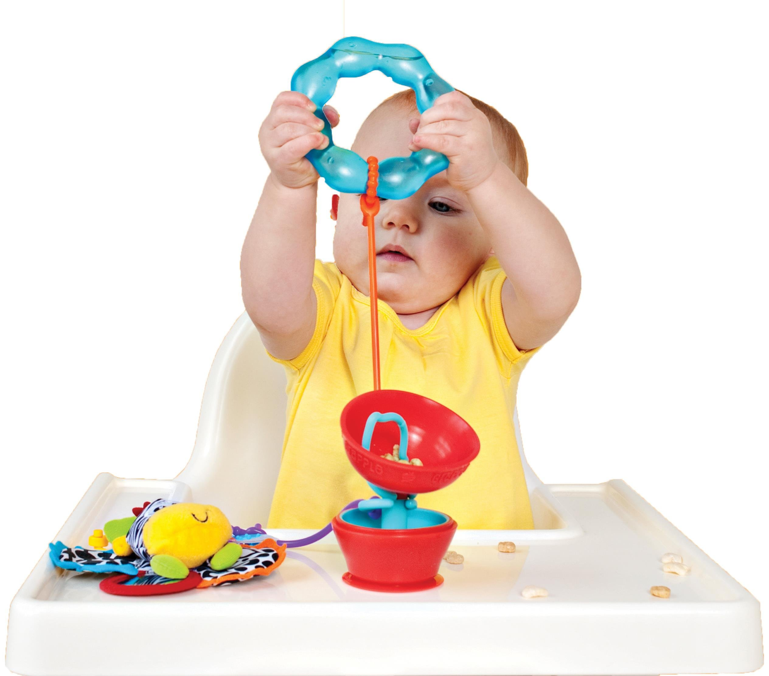Grapple Suction Baby Toy Holder 6-12 Months Red