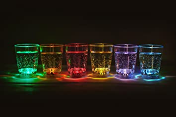6 Piezas Led Illuminados Vasos Chupitos Para Licor Capacidad Aprox