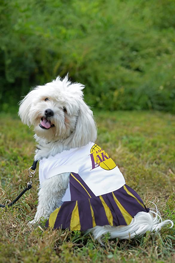 Pets First Los Angeles Chargers Cheerleader Dog Dress