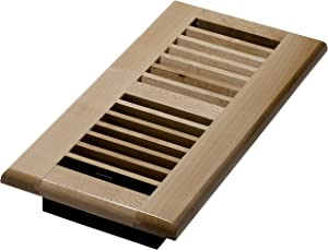 Decor Grates WML410-N 4-Inch by 10-Inch Wood Floor Register, Natural Maple