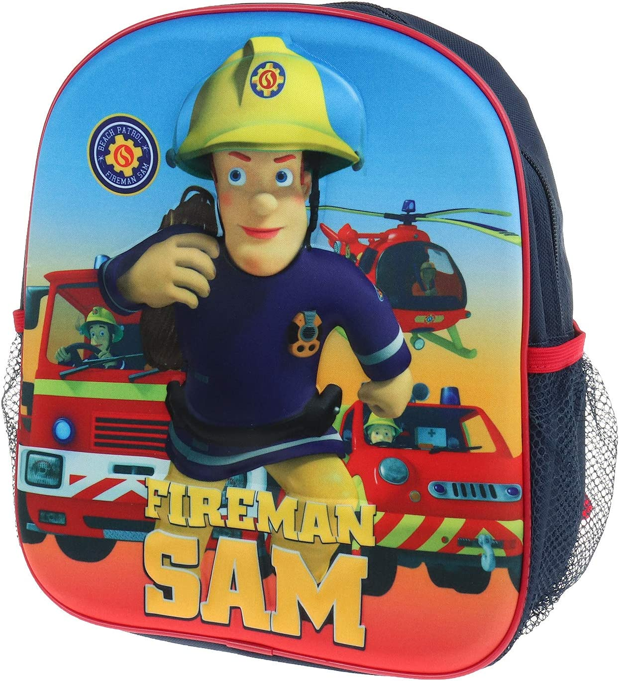 Mochila infantil 3D para ni/ños y ni/ñas talla /única bombero Sam Fireman Sam Multicolor Fireman Sam patrulla de la PAC