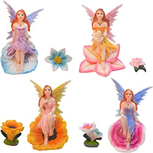 Simple Creativity Fairy Figures for Fairy Garden, Flower Fairies Outdoor Accessories