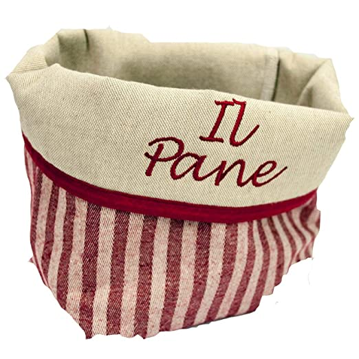 Bolso Bordado el Pan en la tela de la Toscana - Líneas Rojas ...