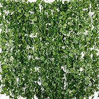Plantas Hiedra Artificial (24pcsx2m) Hiedra Hojas de Vid
