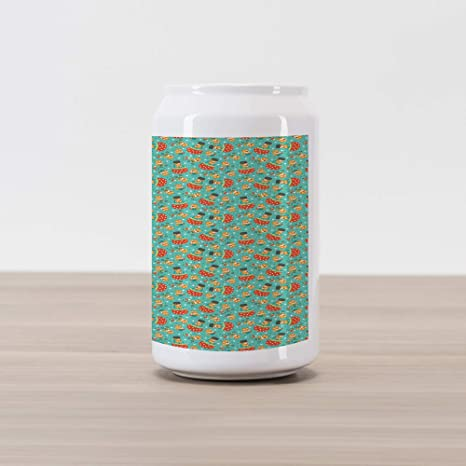 Amazon.com: Ambesonne Woodland Cola Can Shape Piggy Bank ...