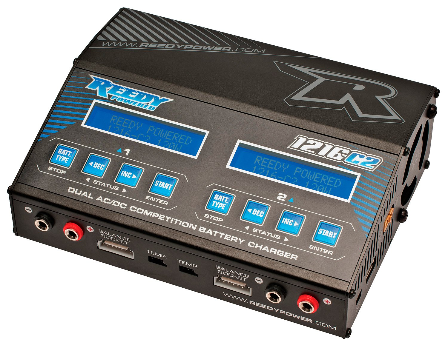 Team Associated 27200 Reedy 1216-C2 Dual AC/DC Balance Charger