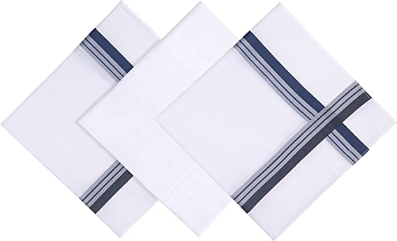 Blank/&Black 100/% Cotton Mens Handkerchief 5 Pack Gift Set Assorted Pack