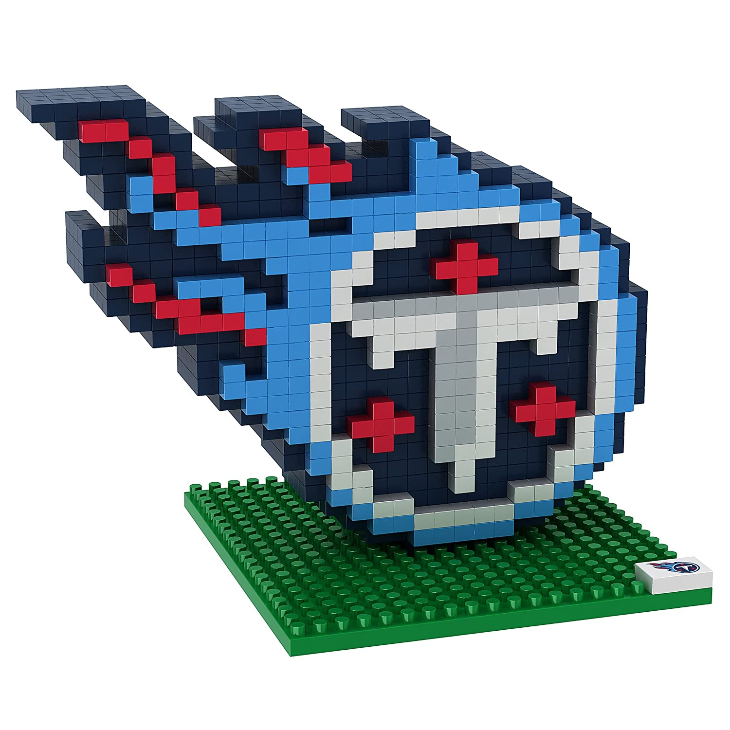 62bf111bc74 FOCO Tenessee Titans Logo 3D BRXLZ Building Kit (493 Piece) Forever  Collectibles (uk) Ltd