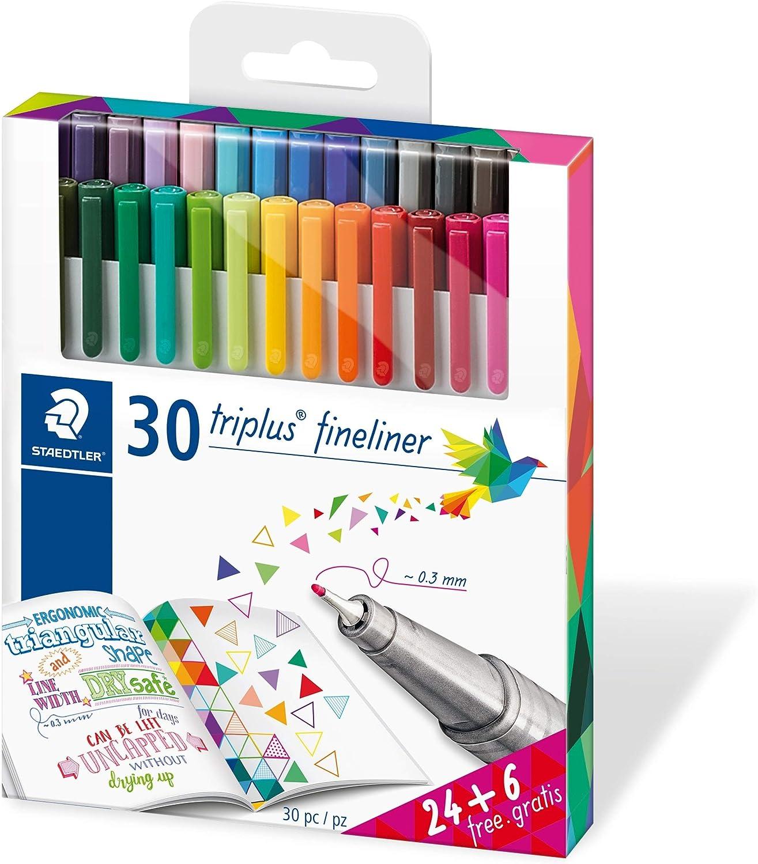 Staedtler 334 C30P - Paquete de 30 rotuladores, Multicolor: Amazon.es: Oficina y papelería