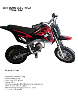 Mini pit bike eléctrica con motor de 250w / 24v - dirt bike - mini moto