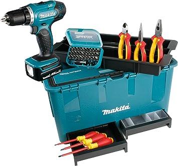 Makita BDF343RHEX4 - Taladro atornillador inalámbrico (caja de herramientas con accesorios, 2 baterías y cargador): Amazon.es: Bricolaje y herramientas