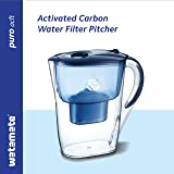 Watamate Puro ACFT, 2.6 LTR Activated Carbon Water Filter jug/Pitcher (Blue)