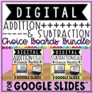 Addition and Subtraction Digital Choice Boards in Google Slides™