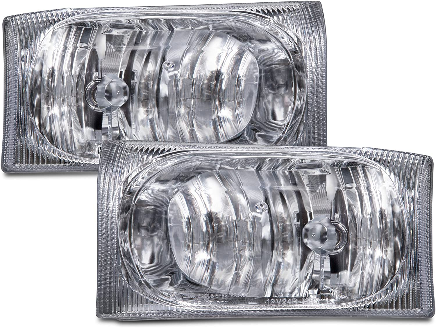Perde Ford 2004 F 250 Super Duty Light Bulbs Brand New Halogen Headlights With A Smoke Lens Fits 2001 Excursion 2002 2005 150 And 350 Series